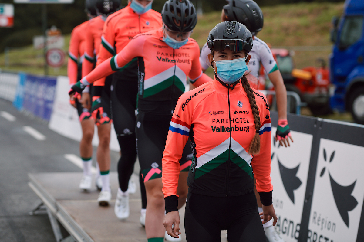 Anouska Koster (NED) at the 2020 GP de Plouay - Lorient Agglomération Trophée WNT, a 101.1 km road race in Plouay, France on August 25, 2020. Photo by Sean Robinson/velofocus.com