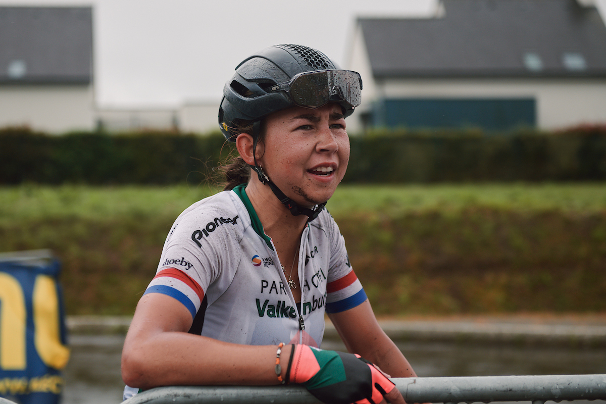 Anouska Koster (NED) after the 2020 GP de Plouay - Lorient Agglomération Trophée WNT, a 101.1 km road race in Plouay, France on August 25, 2020. Photo by Sean Robinson/velofocus.com
