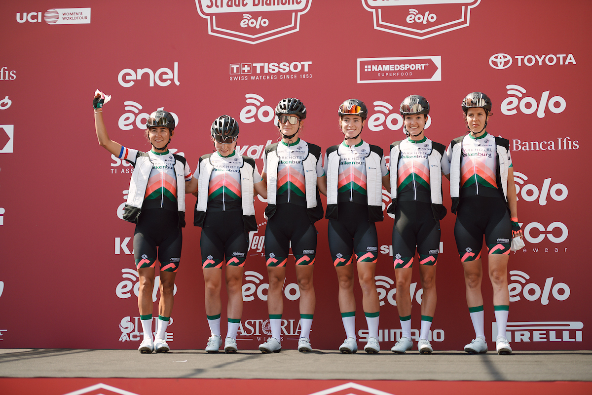 Parkhotel Valkenburg at the team presentation for Strade Bianche - Elite Women 2020, a 136 km road race starting and finishing in Siena, Italy on August 1, 2020. Photo by Sean Robinson/velofocus.com
