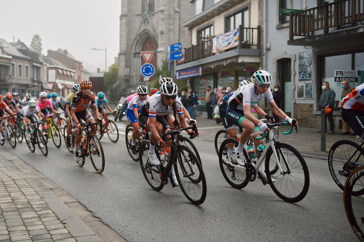 Anouska Koster (NED) at the 2020 La Flèche Wallonne Femmes, a 124 km road race in Huy, Belgium on September 30, 2020. Photo by Sean Robinson/velofocus.com