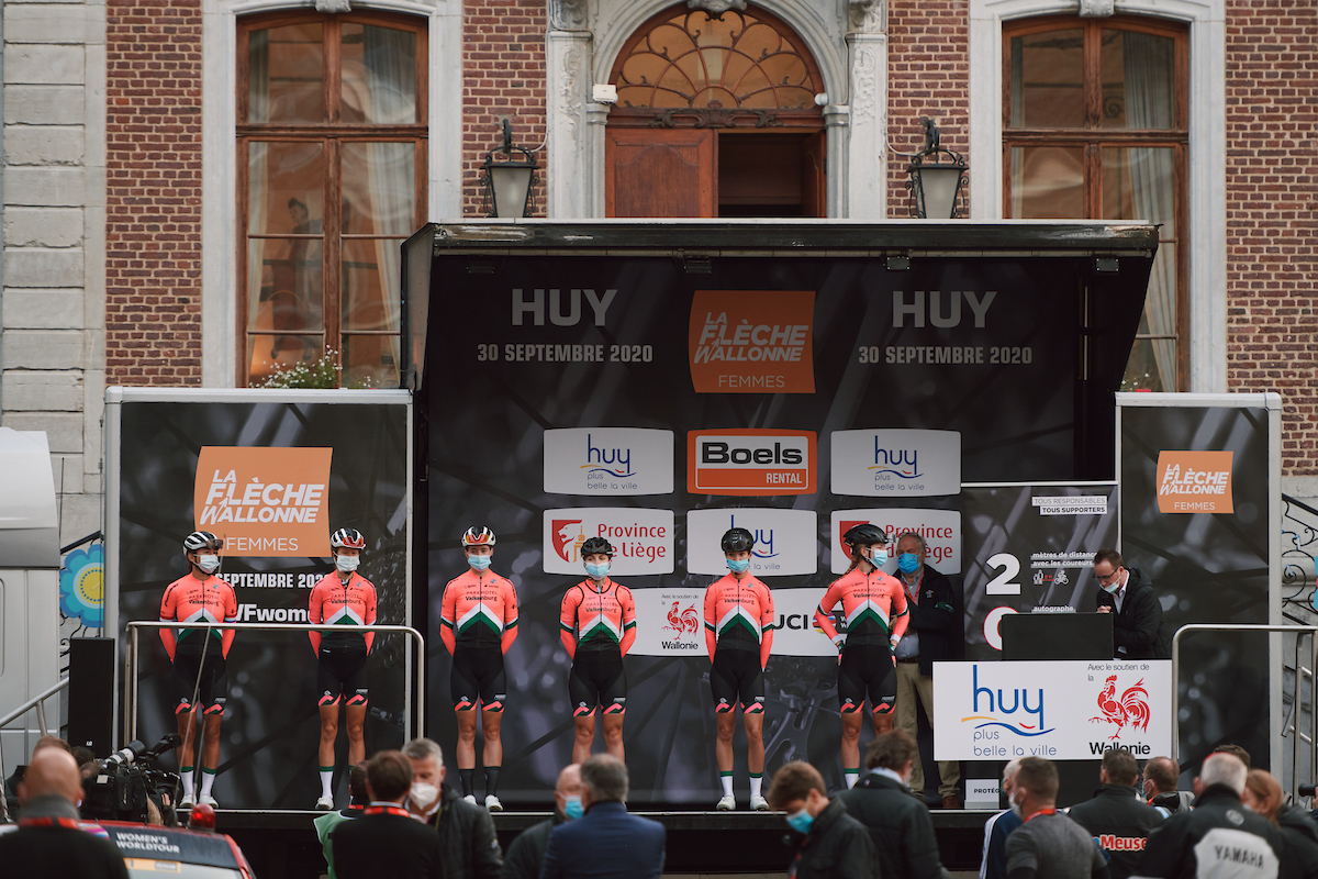 Parkhotel Valkenburg at the 2020 La Flèche Wallonne Femmes, a 124 km road race in Huy, Belgium on September 30, 2020. Photo by Sean Robinson/velofocus.com